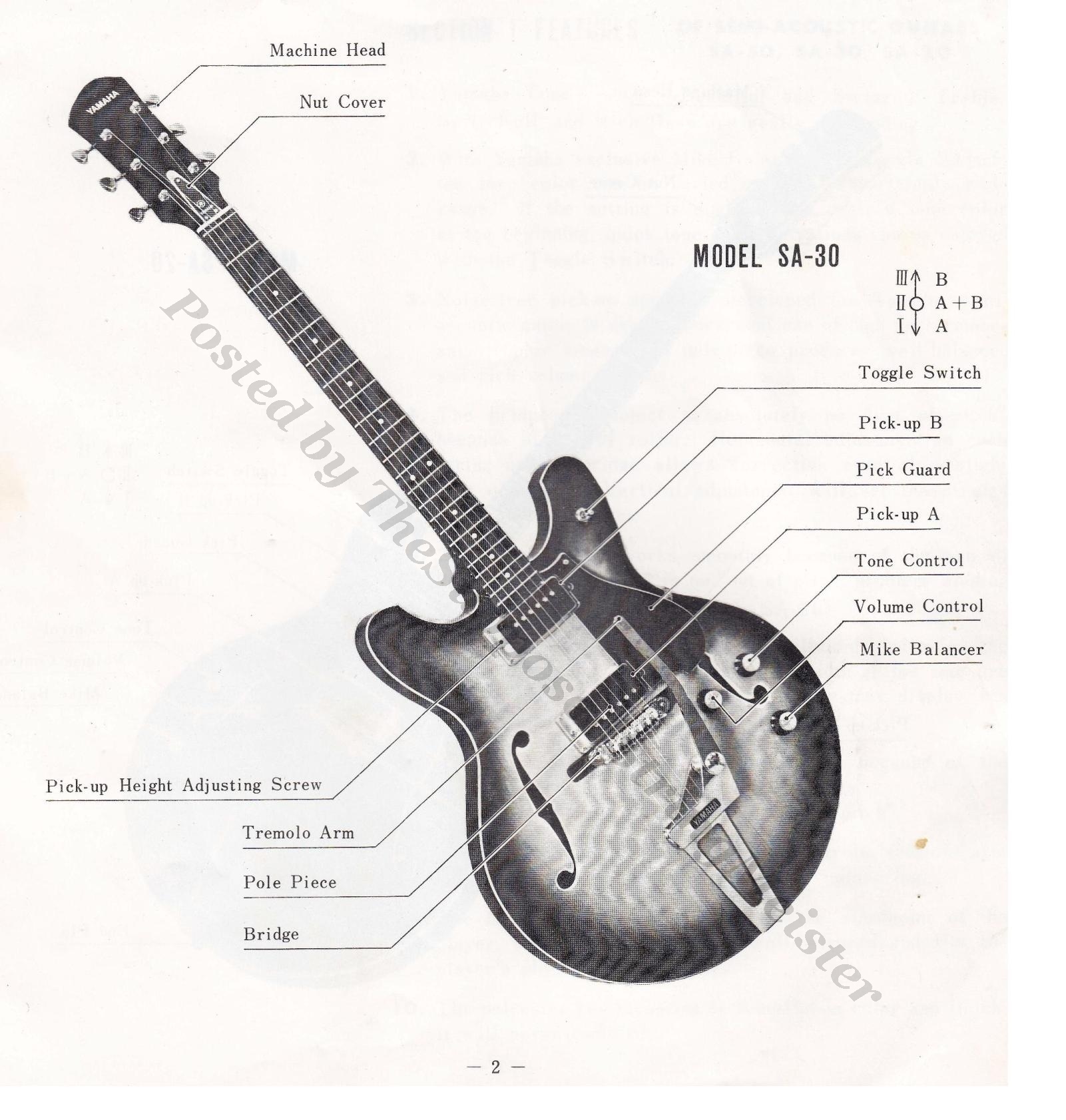 Semi Hollow Body Guitar Wiring Diagrams Acoustic Electric Images Gallery