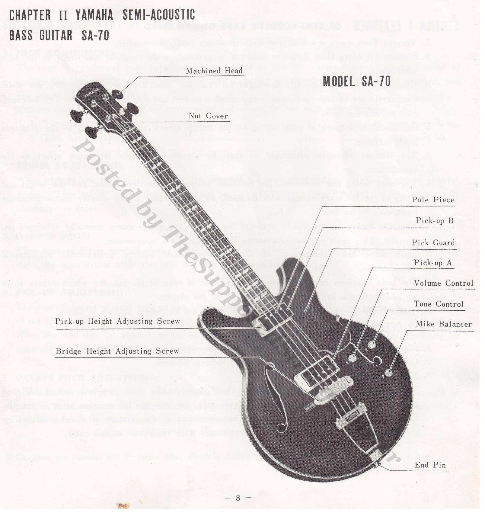 Yamaha Sa 70 Full Hollow Body Bass Guitar Thesupposedstringmeister Electric B Wiring Diagram Booklet Page 8 Layout